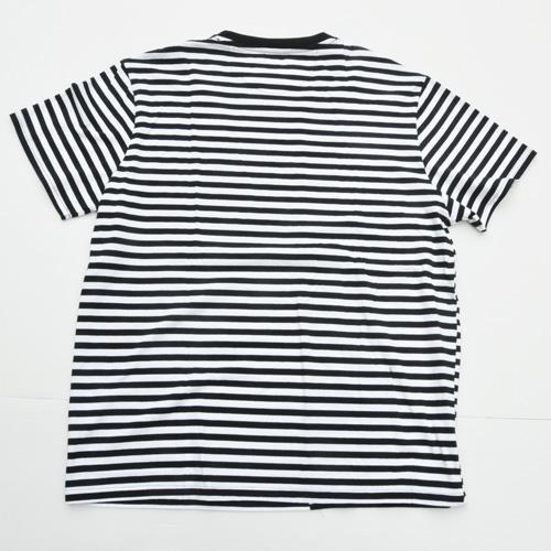 STAPLE/ステイプル ボーダーワンポイントロゴ半袖Tシャツ BIG SIZE-2