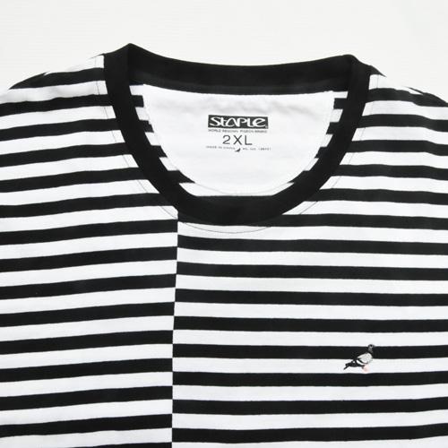 STAPLE/ステイプル ボーダーワンポイントロゴ半袖Tシャツ BIG SIZE-3