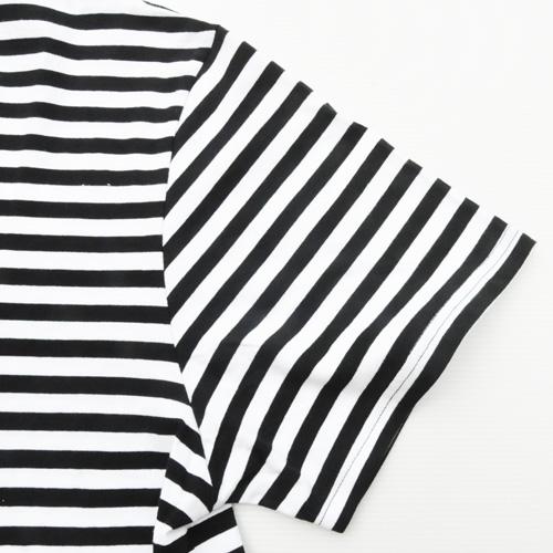 STAPLE/ステイプル ボーダーワンポイントロゴ半袖Tシャツ BIG SIZE-6