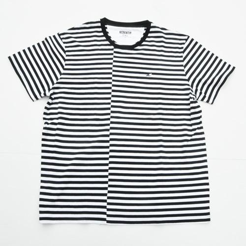 STAPLE/ステイプル ボーダーワンポイントロゴ半袖Tシャツ BIG SIZE