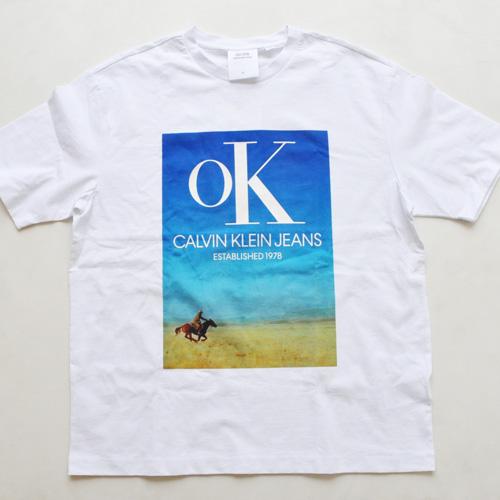 CALVIN KLEIN JEANS/カルバンクラインジーンズ EST 1978 フロントプリントTシャツ