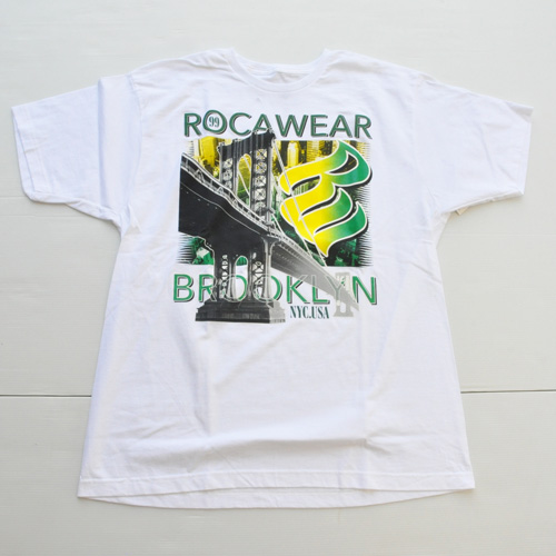 ROCAWEAR/ロカウェア BROOKLYN BRIDGE TEE  DEAD STOCK BIG SIZE