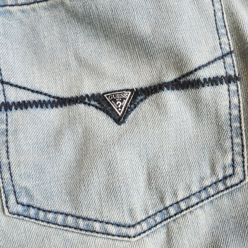 GUESS / ゲス REGULAR STRAIGHT CRESCENT FIT DENIM - 5