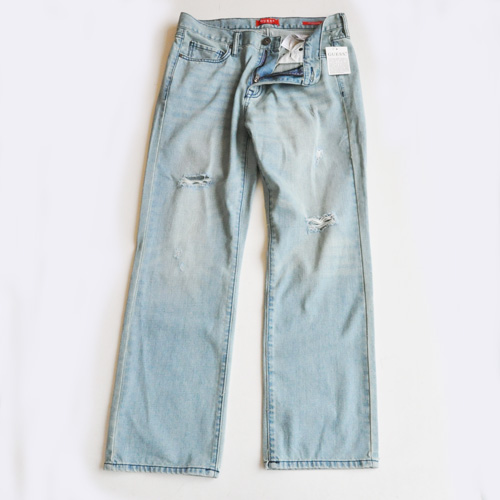 GUESS / ゲス REGULAR STRAIGHT CRESCENT FIT DENIM