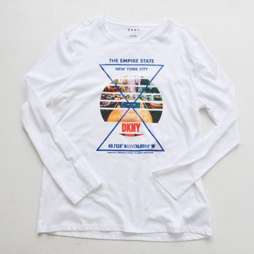 DKNY / ダナキャラン NEW YORK STATE 5Borough グラフィック L/S Tシャツ