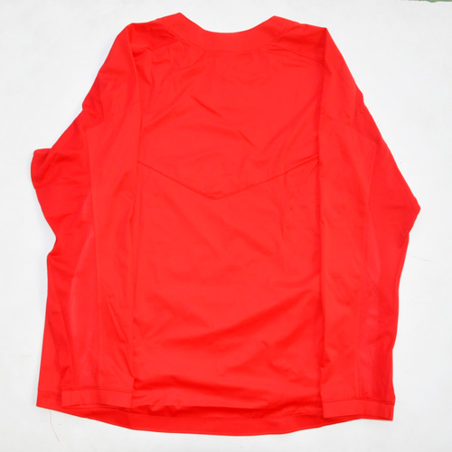 NIKE / ナイキ BASE BALL ロングスリーブゲームシャツ レッド 海外モデル - 1