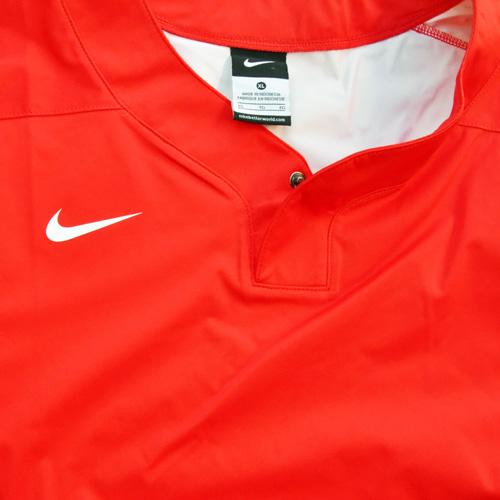 NIKE / ナイキ BASE BALL ロングスリーブゲームシャツ レッド 海外モデル - 2