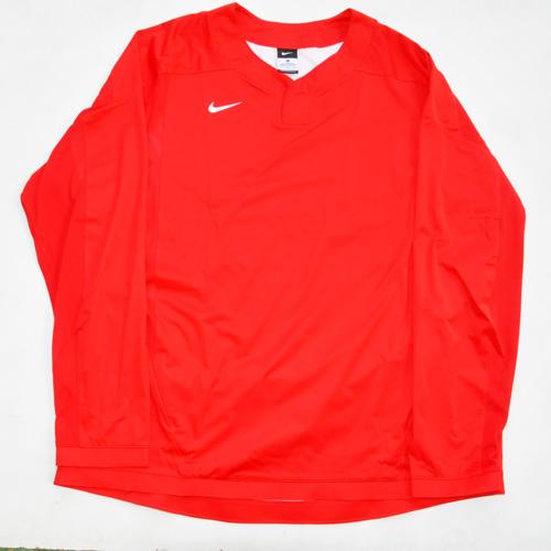 NIKE / ナイキ BASE BALL ロングスリーブゲームシャツ レッド 海外モデル