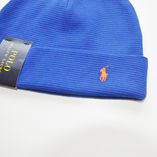 POLO RALPH LAUREN / ポロラルローレン THERMAL CUFFED BEANIE ブルー - 1