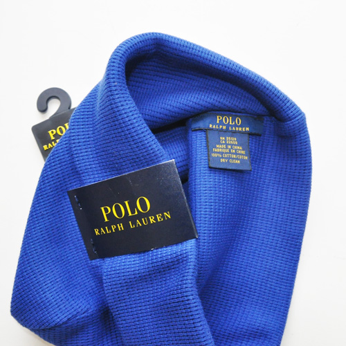 POLO RALPH LAUREN / ポロラルローレン THERMAL CUFFED BEANIE ブルー - 2