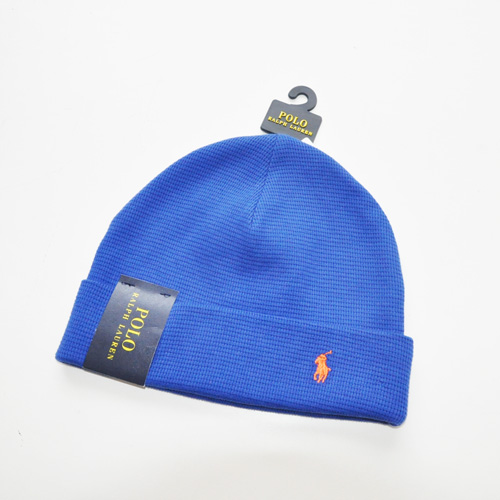 POLO RALPH LAUREN / ポロラルローレン THERMAL CUFFED BEANIE ブルー