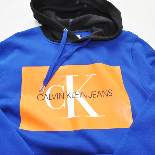 Calvin Klein /CK/ カルバンクライン ジーンズ BOXロゴ裏起毛スウェットセットアップ ブルー-3