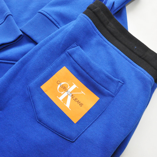 Calvin Klein /CK/ カルバンクライン ジーンズ BOXロゴ裏起毛スウェットセットアップ ブルー-7
