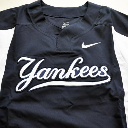 NIKE / ナイキ new york yankees×NIKE BASEBALL Wネーム ロングスリーブゲームシャツ 海外モデル - 2