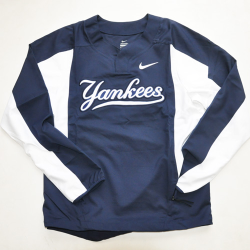NIKE / ナイキ new york yankees×NIKE BASEBALL Wネーム ロングスリーブゲームシャツ 海外モデル