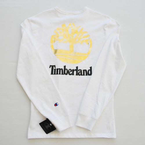 CHAMPION/チャンピオン CHAMPION×TIMBERLAND フロントプリントロングスリーブTシャツ 海外限定モデル - 1