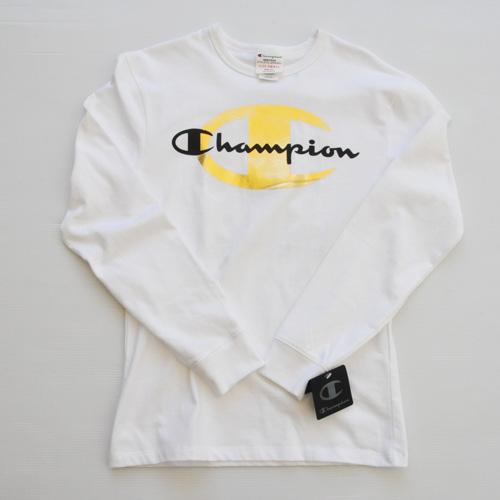 CHAMPION/チャンピオン CHAMPION×TIMBERLAND フロントプリントロングスリーブTシャツ 海外限定モデル