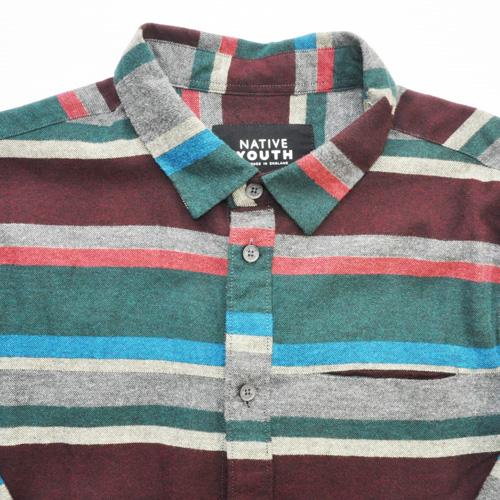NATIVE YOUTH/ネイティブユース ボーダーロングスリーブシャツ - 2
