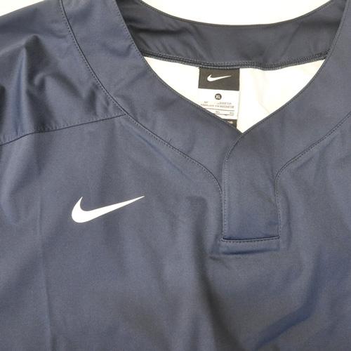 NIKE / ナイキ BASE BALL ロングスリーブゲームシャツ ネイビー 海外モデル - 2