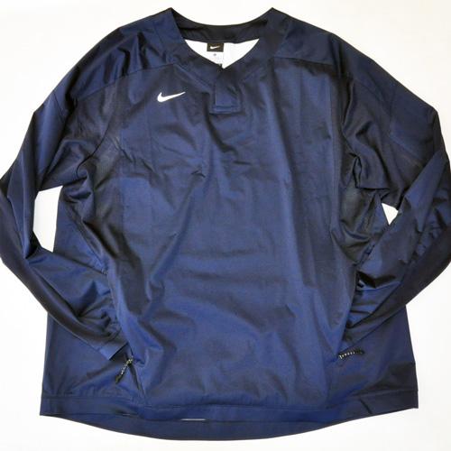 NIKE / ナイキ BASE BALL ロングスリーブゲームシャツ ネイビー 海外モデル