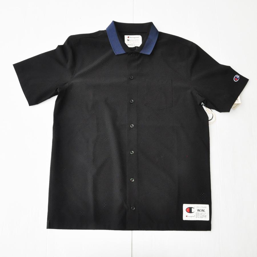 WOOD WOOD/ ウッドウッド WOOD WOOD×CHAMPION ボーリング半袖シャツ