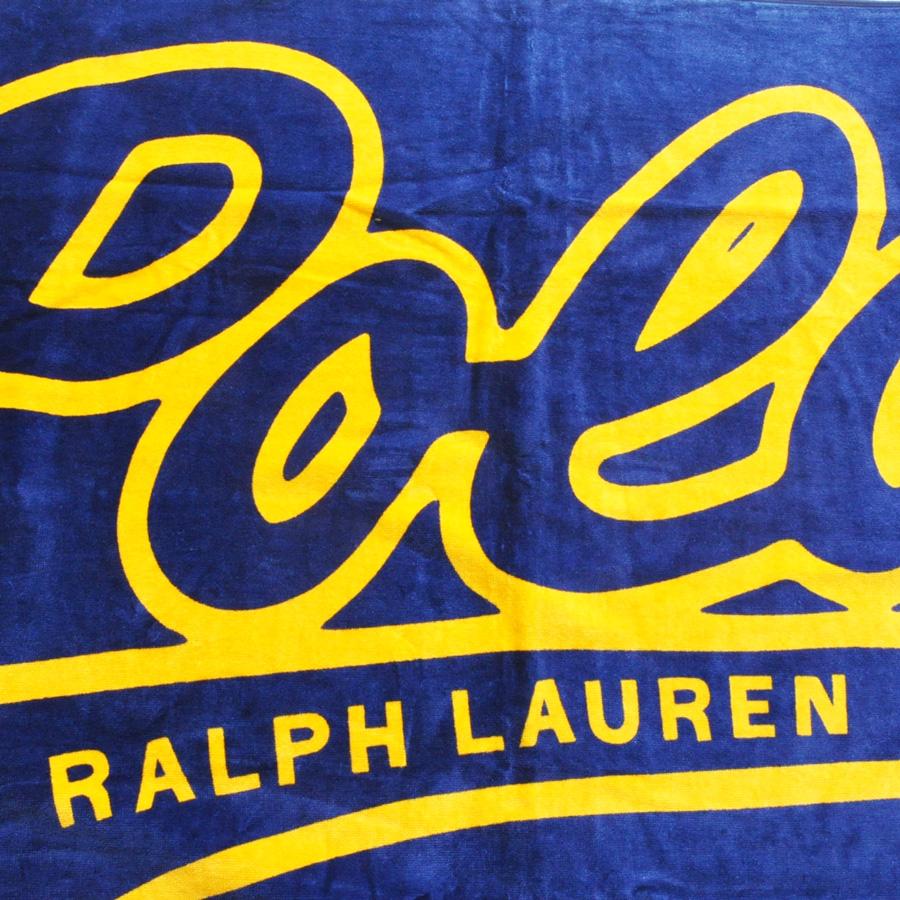 POLO RALPH LAUREN/ポロラルローレン POLO RALPH LAUREN 大判 BEACH TOWEL ネイビー×オレンジ-3
