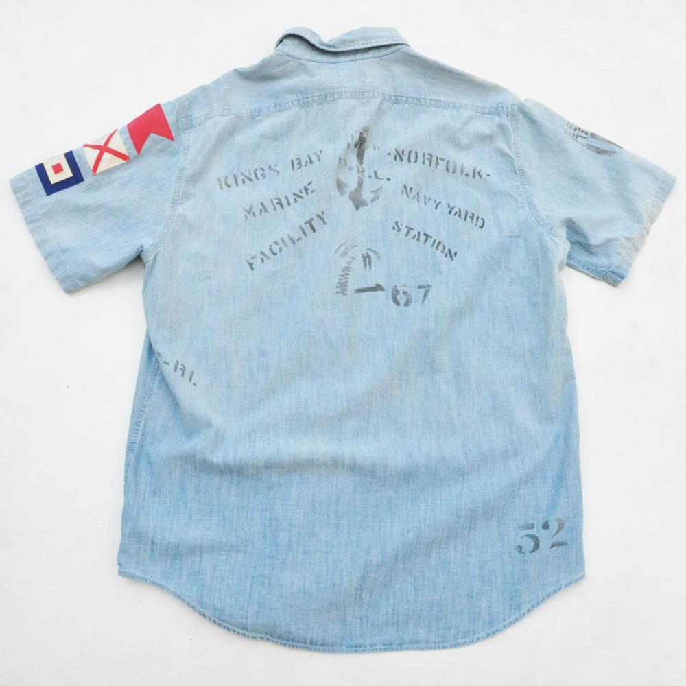 POLO RALPH LAUREN/ラルフローレン ビンテージ シャンブレー半袖シャツ