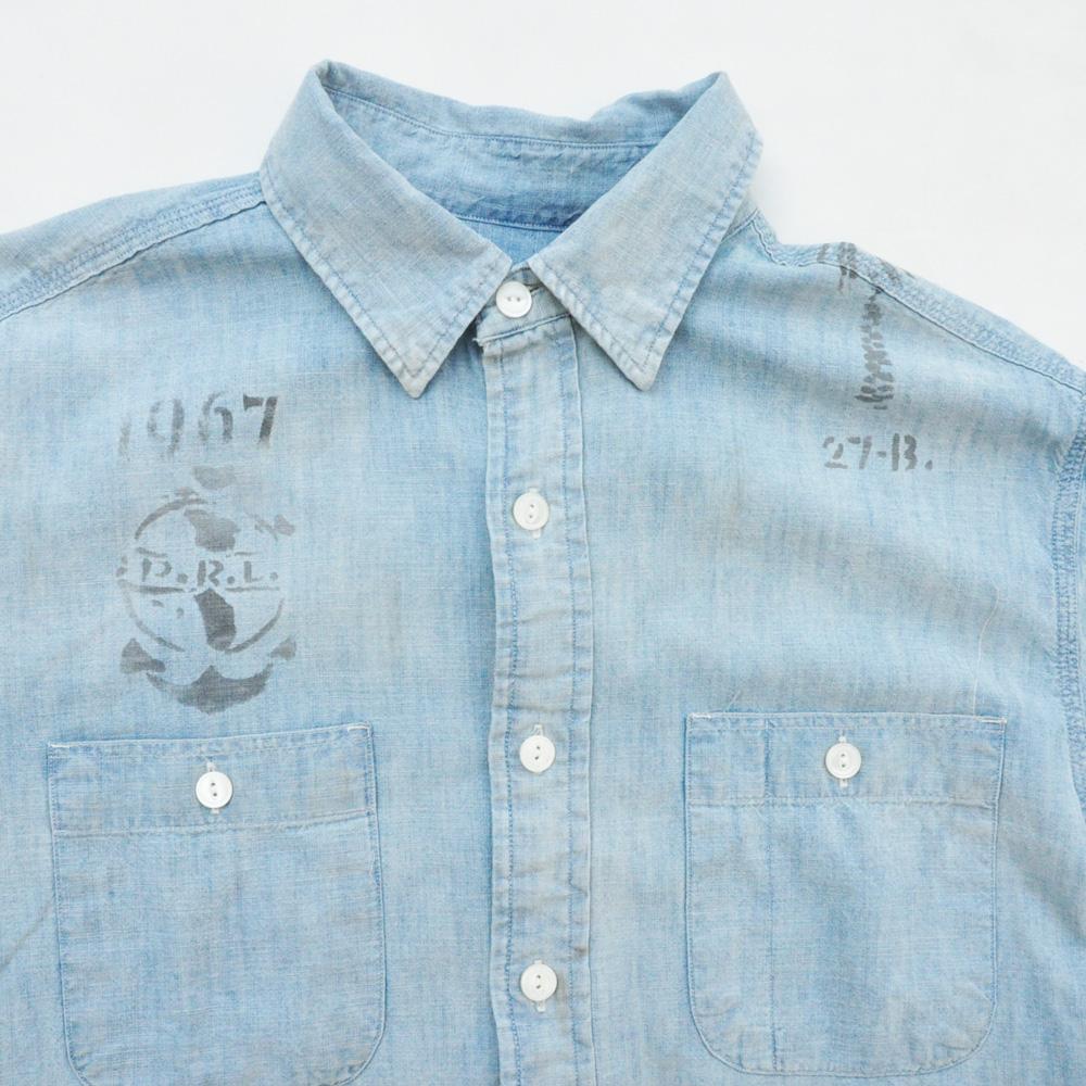 POLO RALPH LAUREN/ラルフローレン ビンテージ シャンブレー半袖シャツ-3