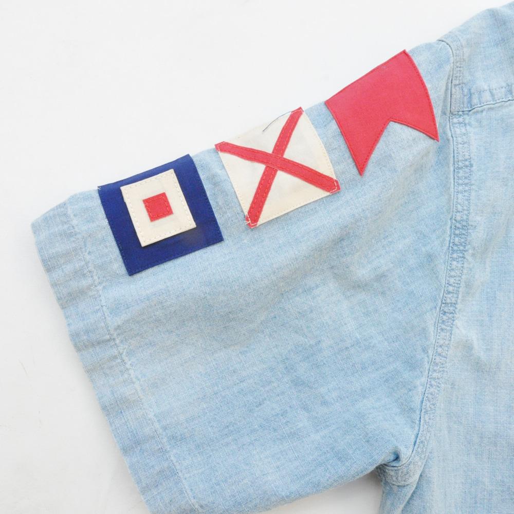 POLO RALPH LAUREN/ラルフローレン ビンテージ シャンブレー半袖シャツ-4