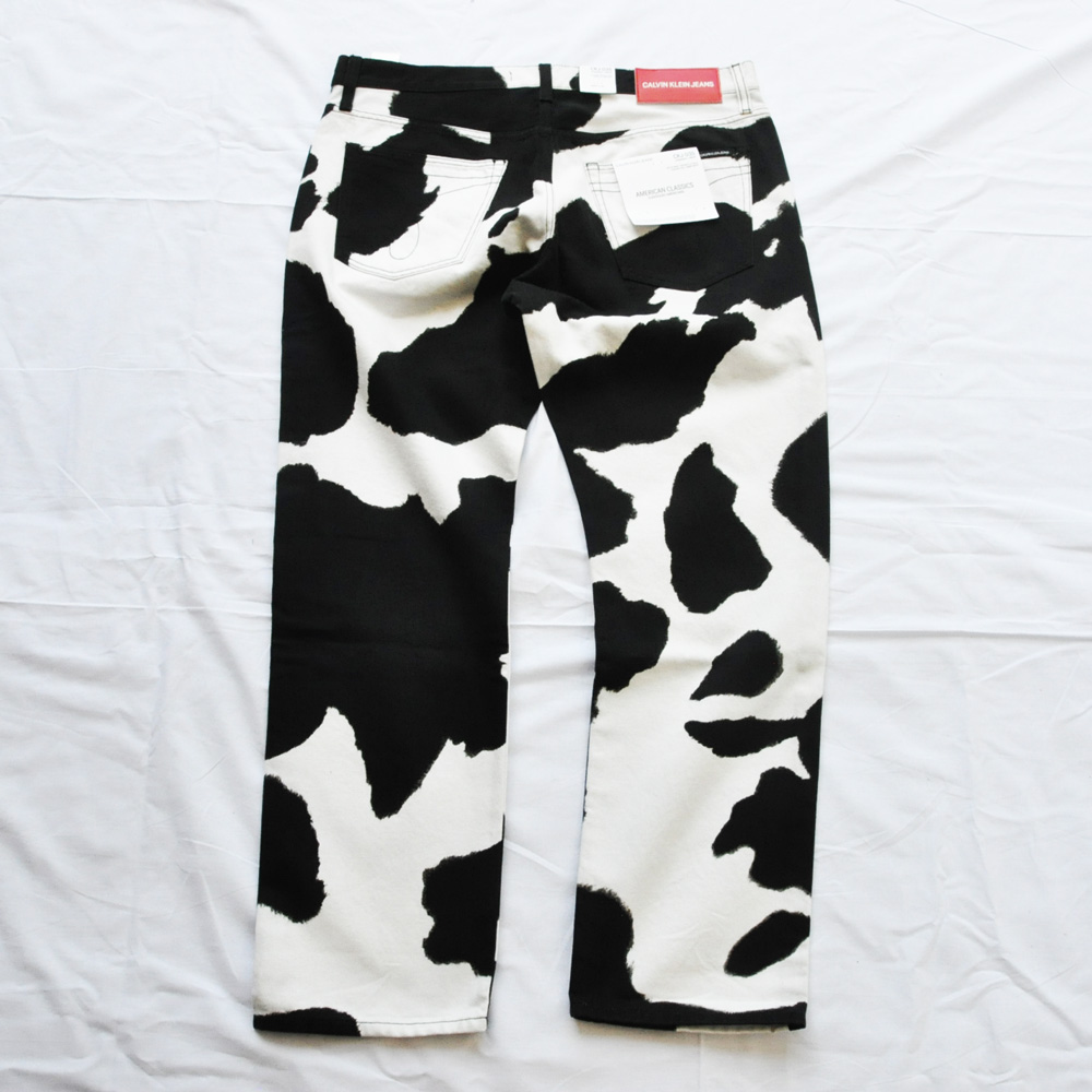 CALVIN KLEIN JEANS/カルバンクラインジーンズ Cow Print Jeans BIG SIZE-2