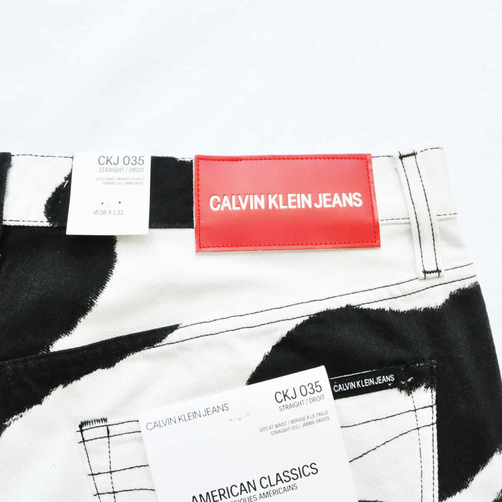 CALVIN KLEIN JEANS/カルバンクラインジーンズ Cow Print Jeans BIG SIZE-4