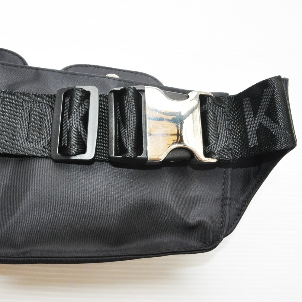 DKNY/ダナキャラン 4ポケットナイロンショルダーバック ブラック-4
