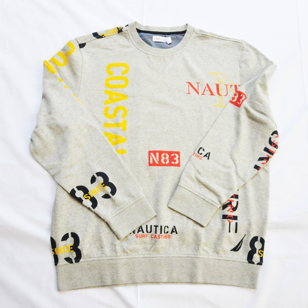 NAUTICA/ノーティカ 総柄クルーネックスウェットBIG SIZE