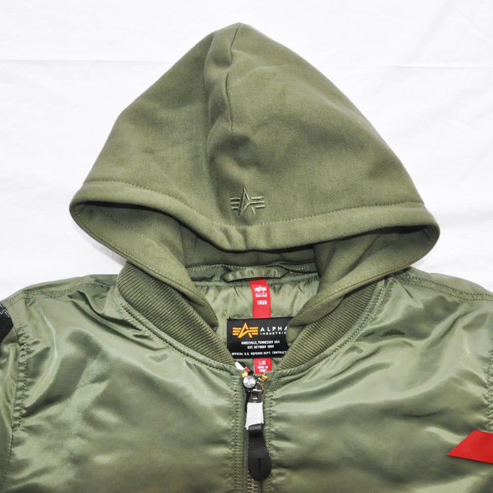 ALPHA INDUSTRIES/アルファ インダストリーズ MA-1フライトフードジャケット-3