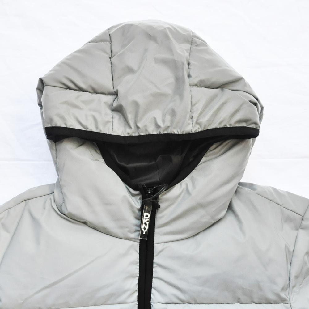 DKNY/ダナキャラン CLASSIC HOODED LOGO キルティングジャケット リフレクター-3