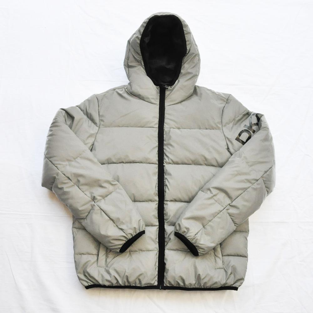 DKNY/ダナキャラン CLASSIC HOODED LOGO キルティングジャケット リフレクター
