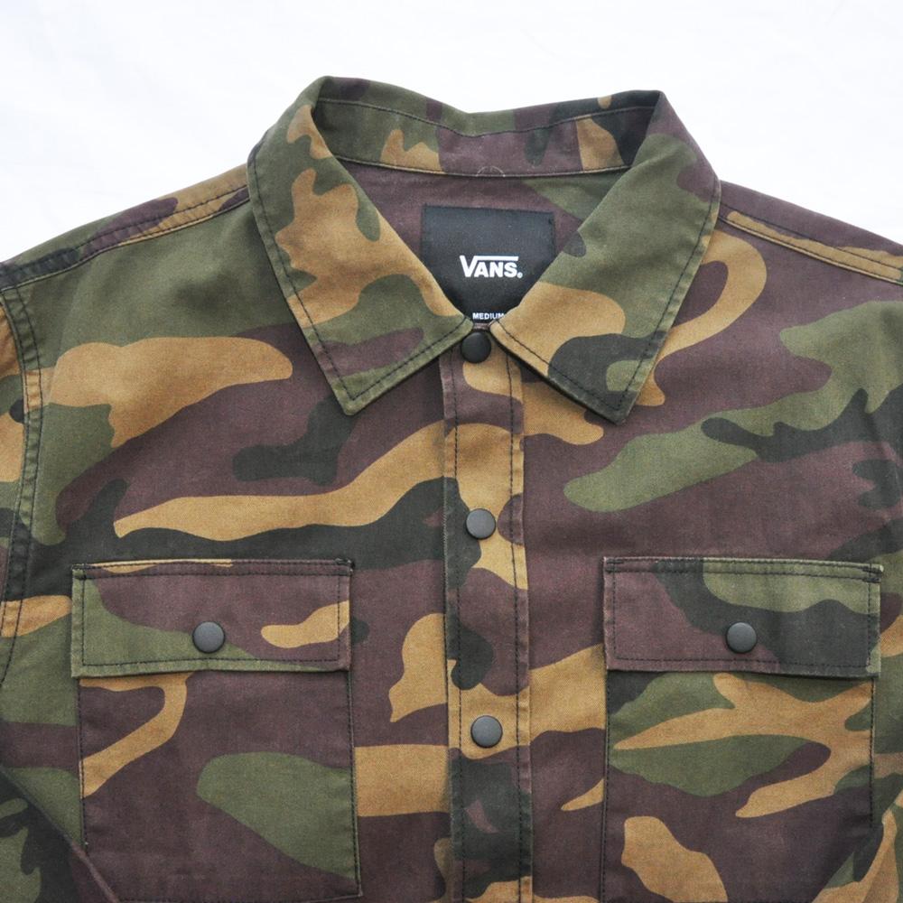 VANS/バンズ 迷彩柄ロングスリーブシャツ ジャケット-3