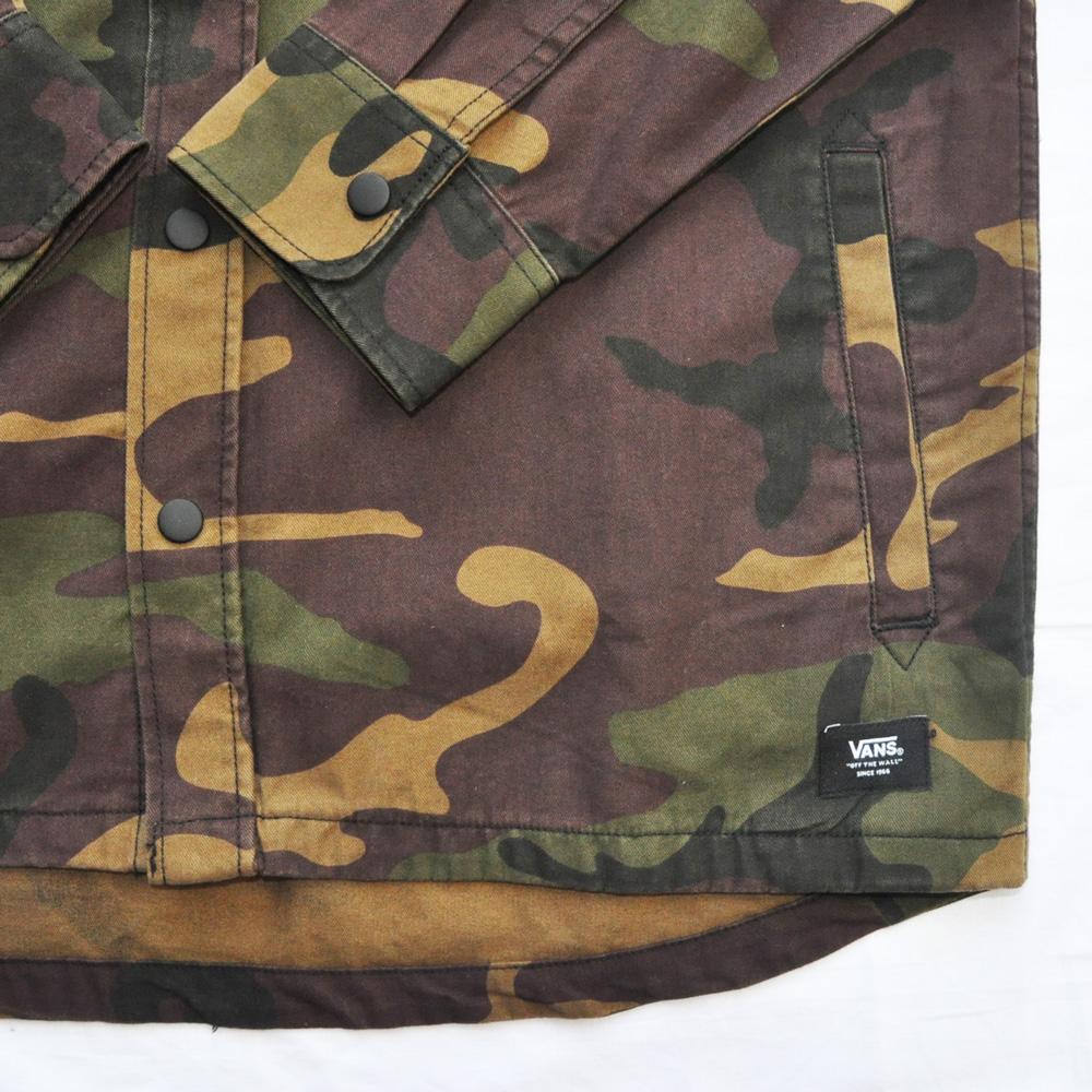 VANS/バンズ 迷彩柄ロングスリーブシャツ ジャケット-5