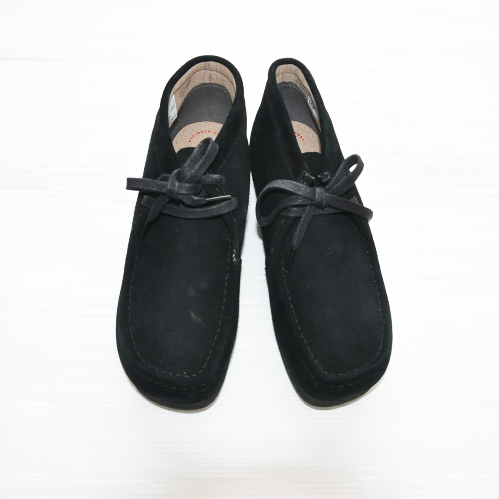 CLARKS ORIGINALS/クラークス WALLABEE BOOT  STINS HI BLACK SUEDE