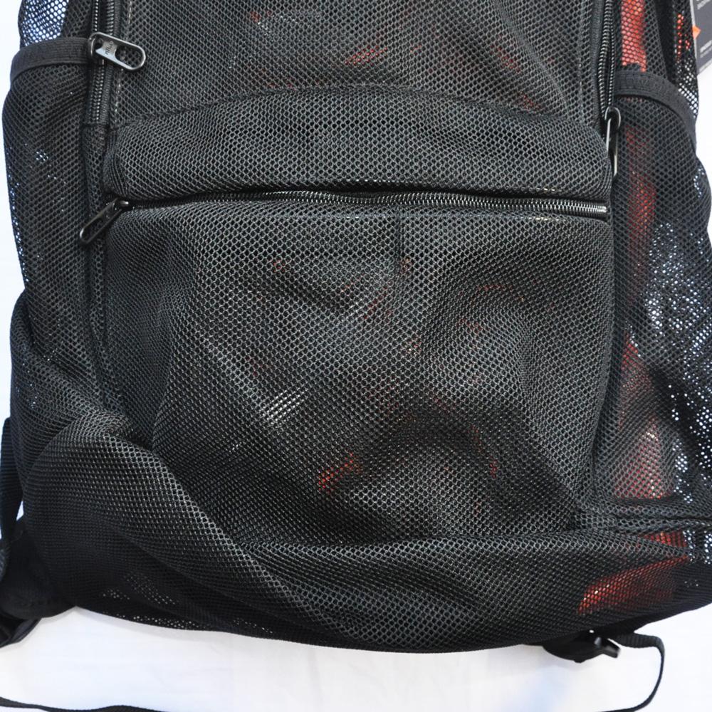 NIKE/ナイキ MESH BRASILIA BACK PACK BAG ブラック-4