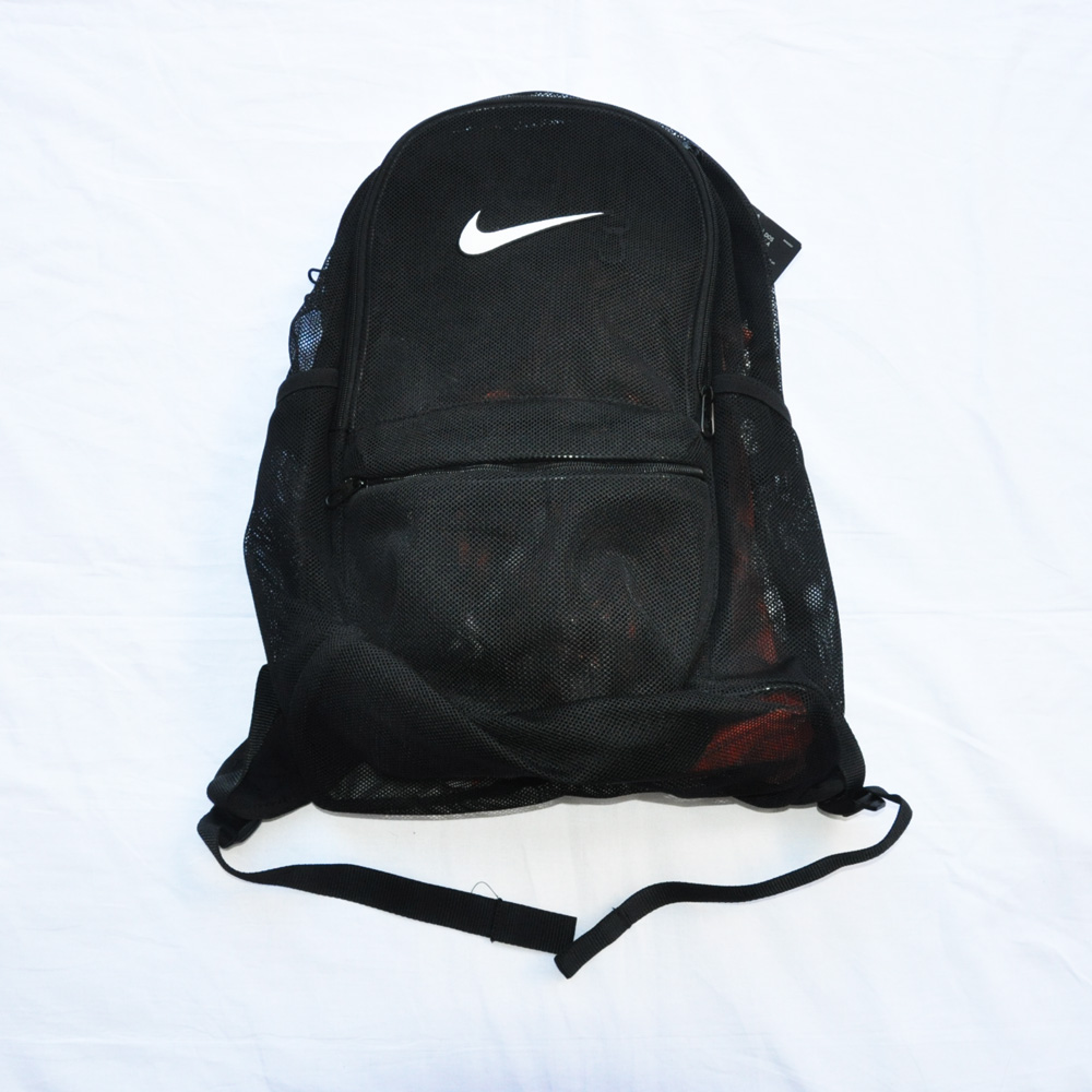NIKE/ナイキ MESH BRASILIA BACK PACK BAG ブラック