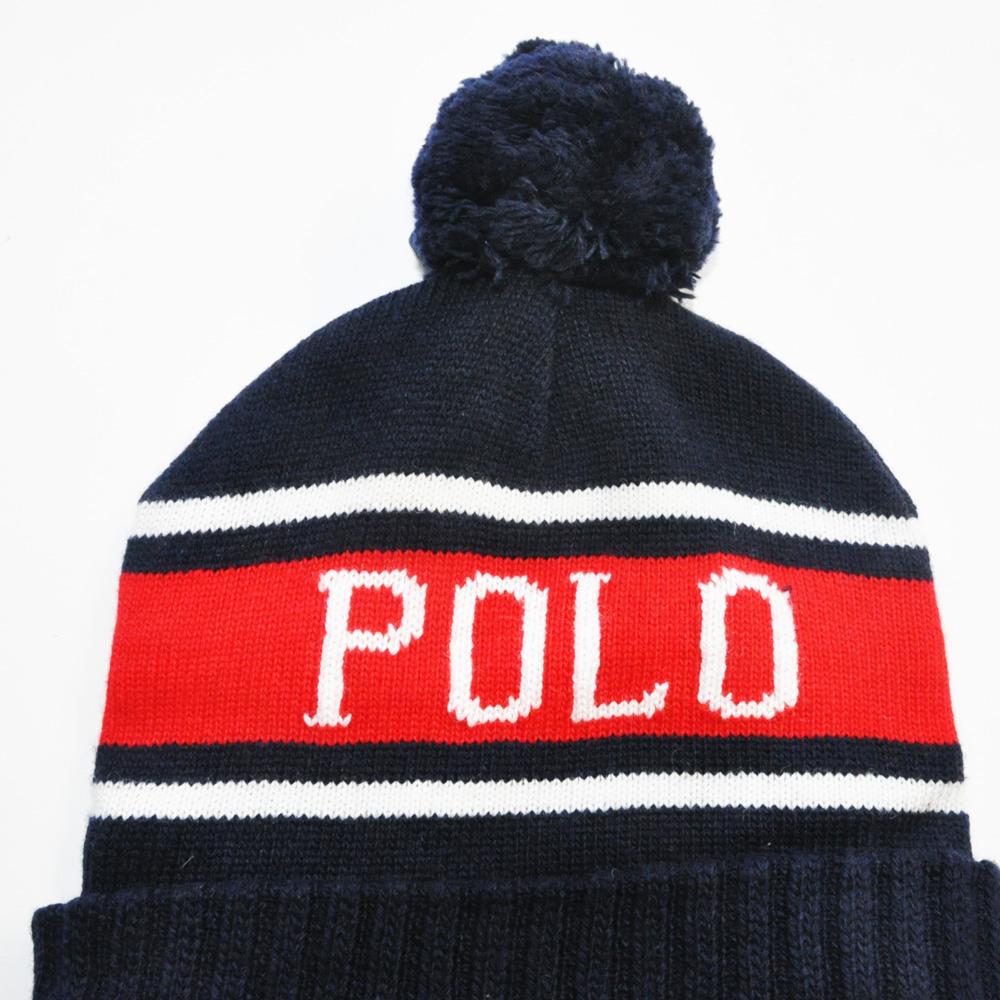 POLO RALPH LAUREN /ポロラルフローレン POLO ボンボリ付きニットキャップ-3