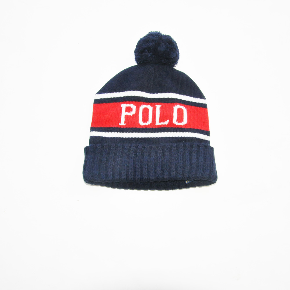 POLO RALPH LAUREN /ポロラルフローレン POLO ボンボリ付きニットキャップ