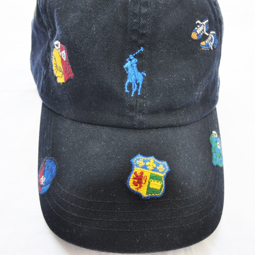 POLO RALPH LAUREN /ポロラルフローレン RUGBY刺繍 CAP ネイビー-2