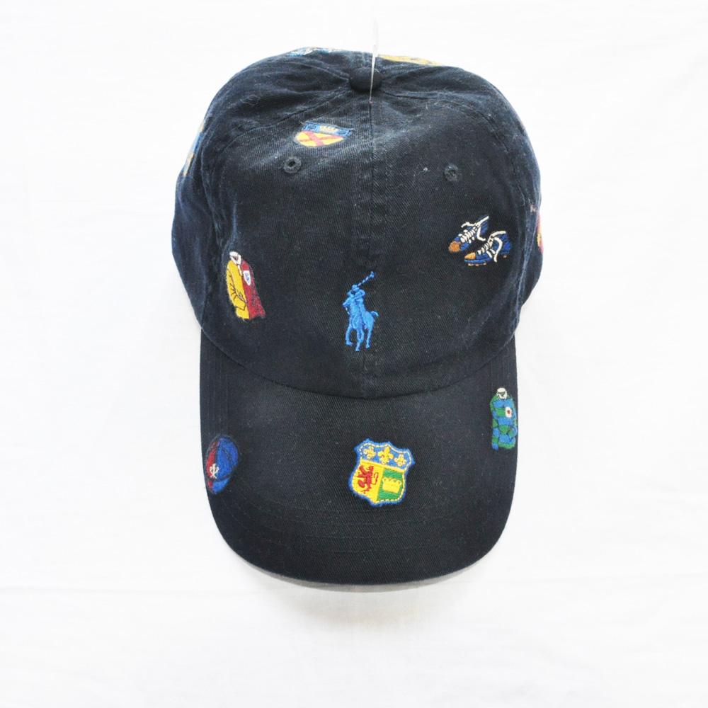 POLO RALPH LAUREN /ポロラルフローレン RUGBY刺繍 CAP ネイビー