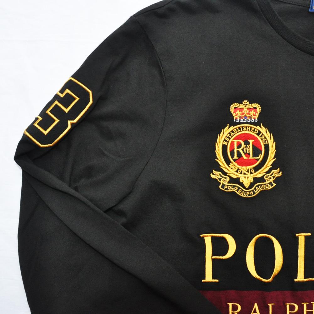POLO RALPH LAUREN/ポロ ラルフローレン 刺繍プリントロングスリーブTシャツ-4