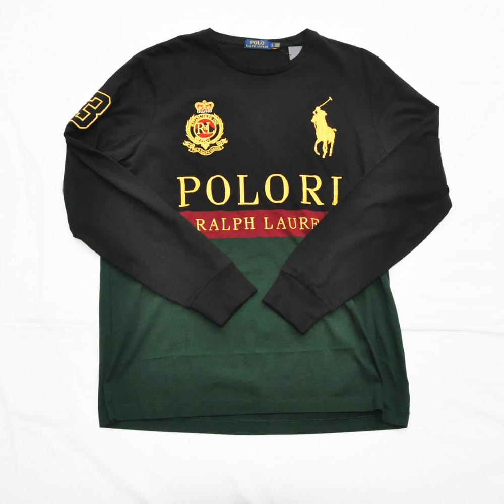 POLO RALPH LAUREN/ポロ ラルフローレン 刺繍プリントロングスリーブTシャツ
