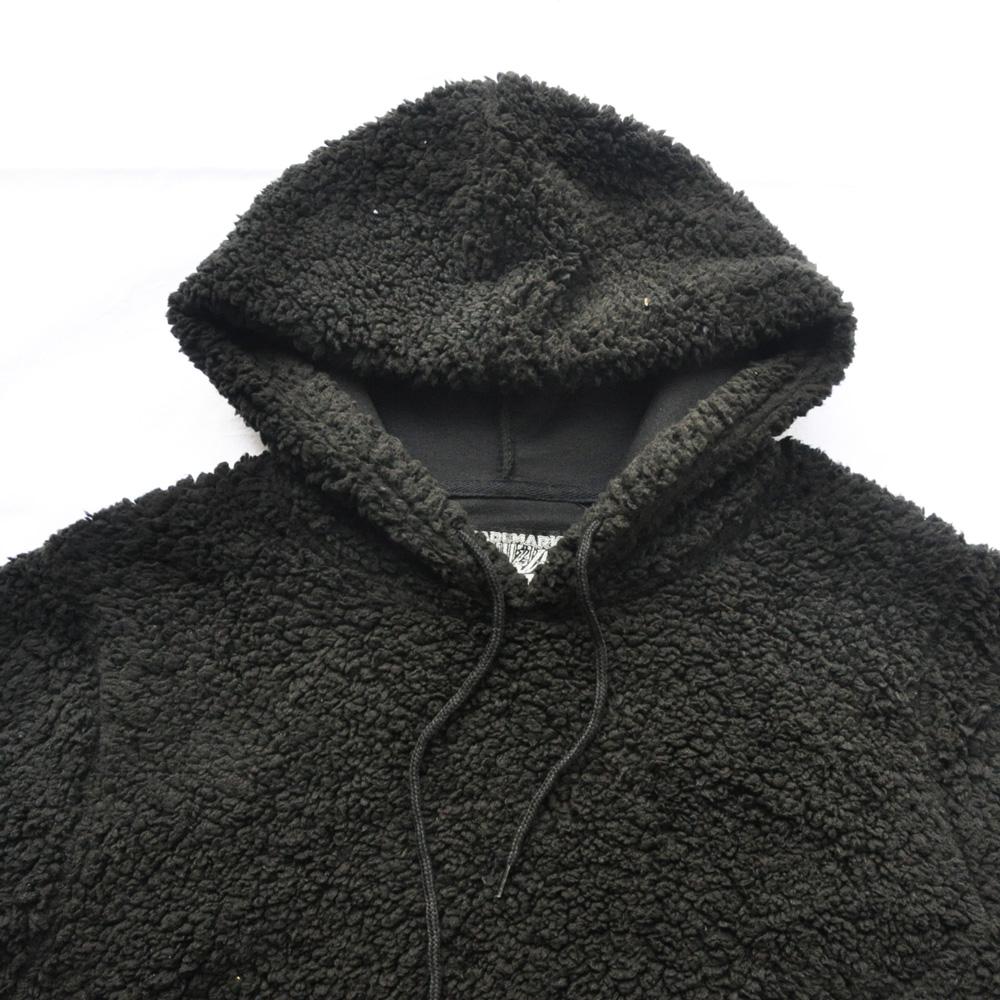 BROOKLYN CLOTH/ブルックリンクロス ボアフードパーカー ブラック-3