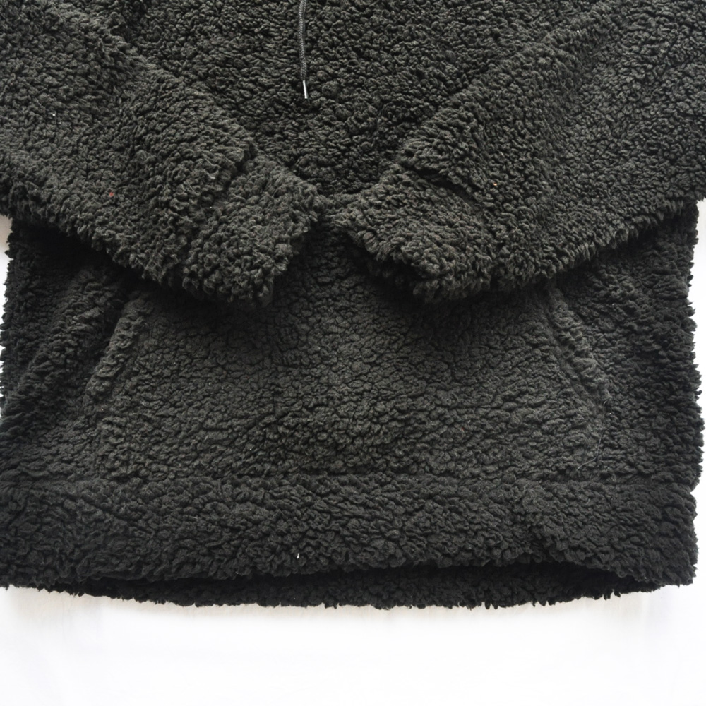 BROOKLYN CLOTH/ブルックリンクロス ボアフードパーカー ブラック-4