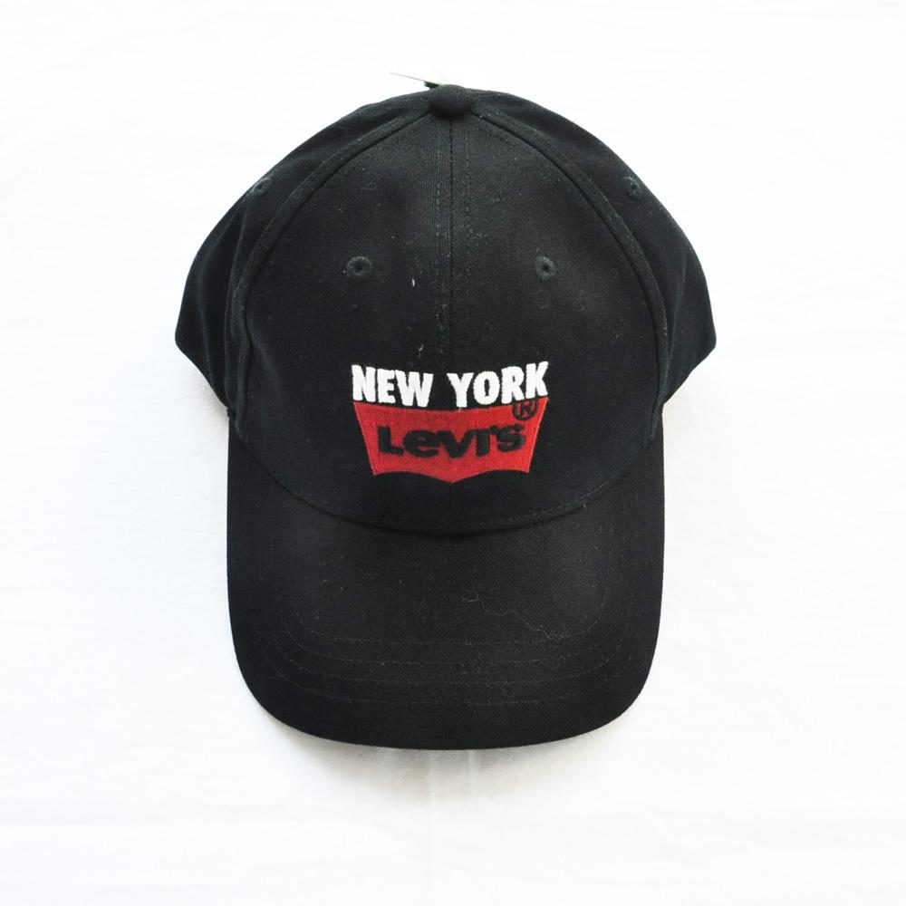 LEVI'S/リーバイス NEW YORK 刺繍 ベースボールキャップ ブラック